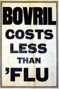Bovril costs less than flu