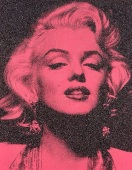 andrew-russell_young_marilyn_portrait_melrose_pink_and_black_original