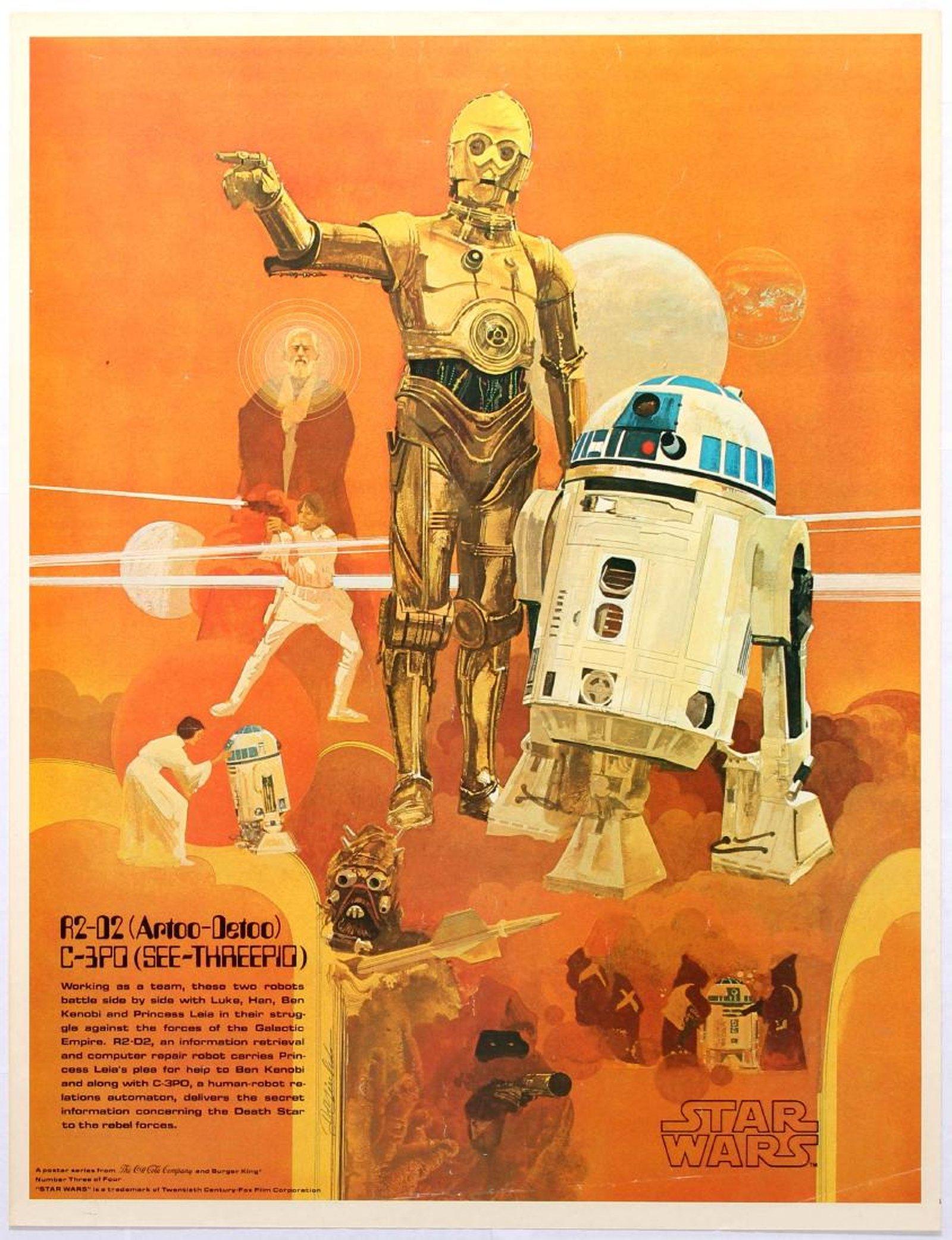 Star Wars Coca Cola R2D2 C3PO