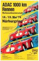 2 ADACRennenNurburgring SetOf3CarRacingPosters