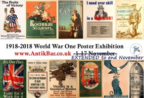 AntikBar WWI Poster Exhibition extended to end November
