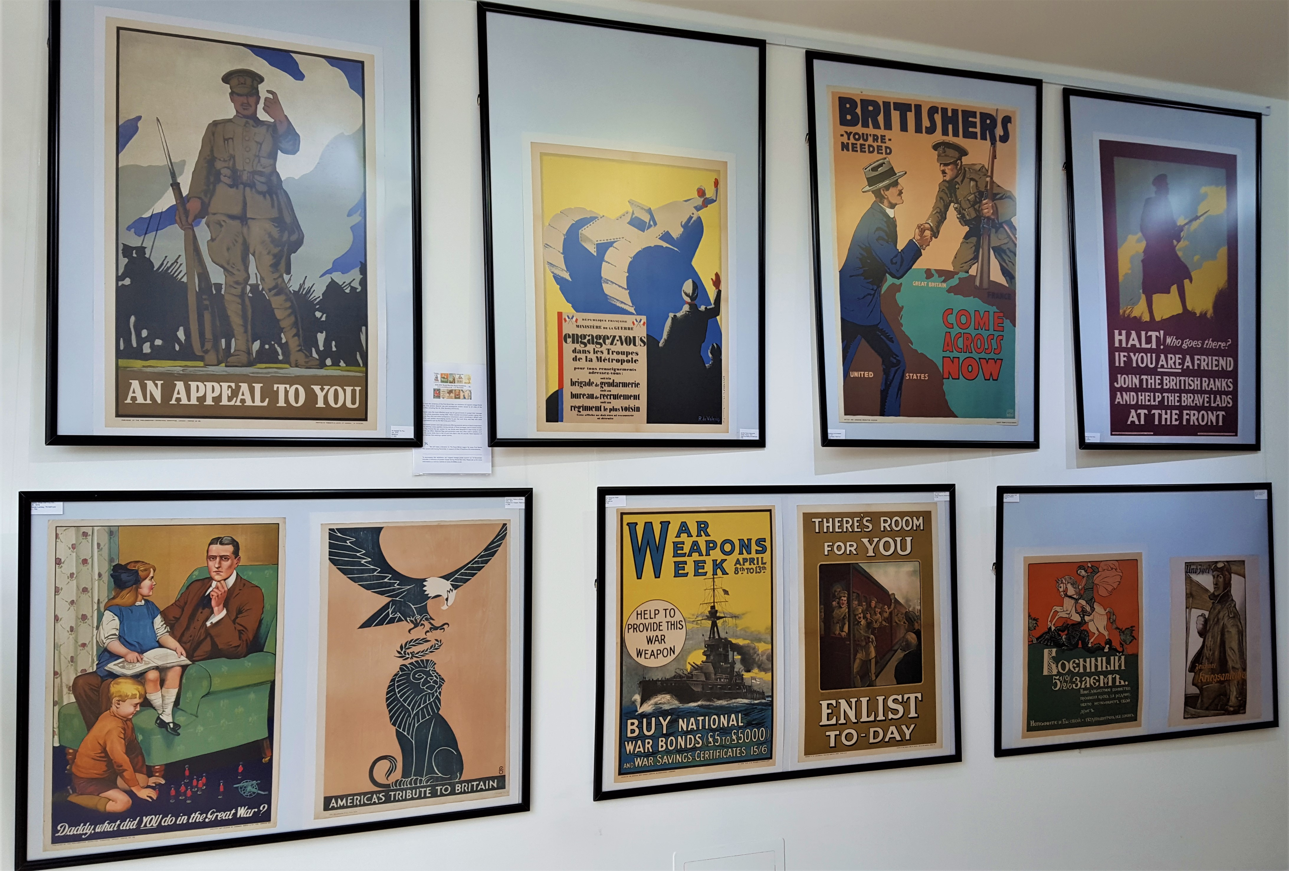 AntikBar WWI Poster Exhibition feature wall