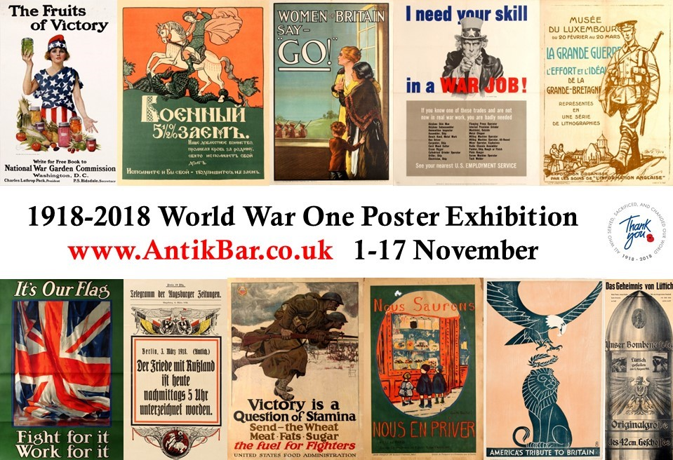 AntikBar WWI PosterExhibition TheRoyalBritishLegion