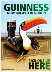 10 set of 2 guinness toucan posters