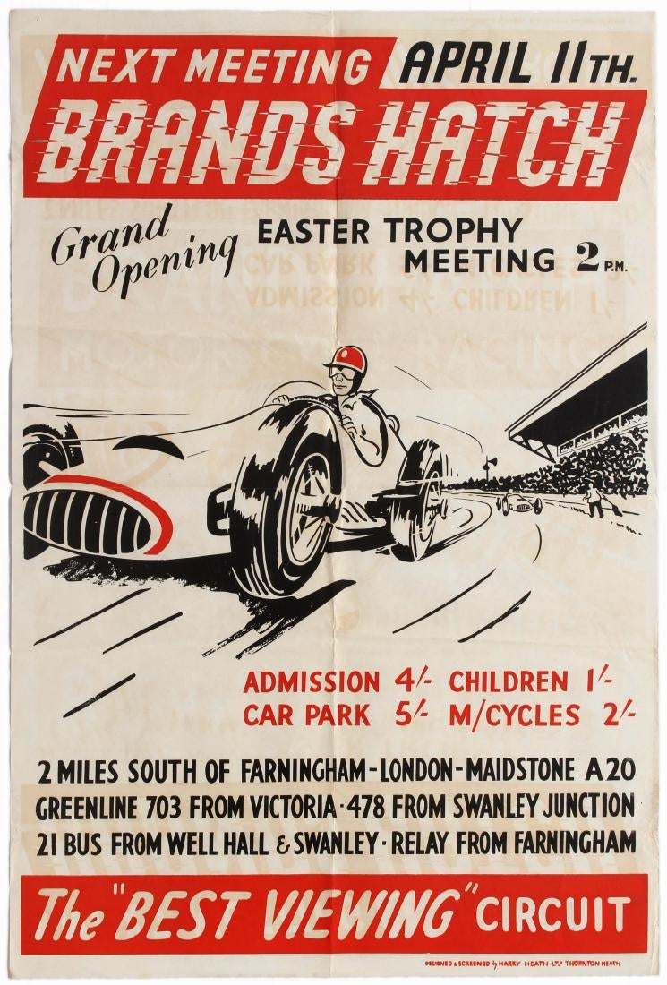 AntikBar Vintage Poster Auction BrandsHatch