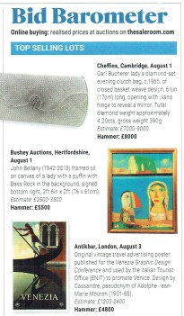 ATG AntikBar Poster Auction Top Selling Lots Bid Barometer 3Aug19