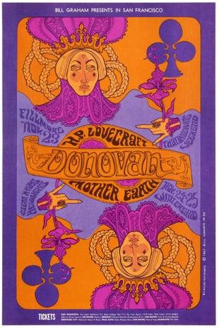 Donovan Fillmore Bill Graham Concert Psychedelic Music Poster