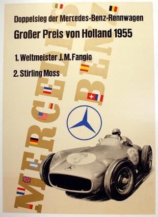 Mercedes Benz Holland 1955 Grand Prix Fangio Stirling Moss