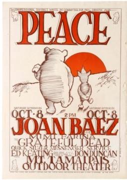 1 Peace JoanBaez TheGratefulDead WinnieThePooh Piglet AntikBar VintagePoster Auction
