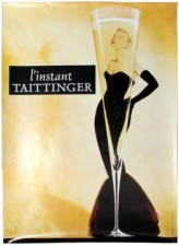 11 ChampagneTaittinger GraceKellyDesign AntikBar VintagePoster Auction