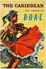 14 BOAC TheCaribbean AntikBar VintagePoster Auction