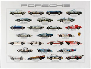 15 Porsche AntikBar VintagePoster Auction