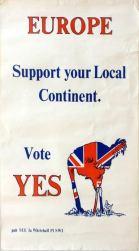 16 Europe VoteYes Referendum1975 Brexit AntikBar VintagePoster Auction