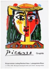 18 PabloPicasso GraphikExhibition AntikBar VintagePoster Auction