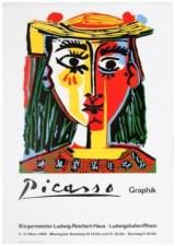 18 PabloPicasso GraphikExhibition AntikBar VintagePoster Auction