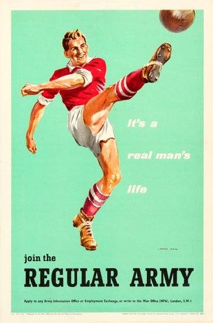 19 ArmyRecruitment Football AntikBar VintagePoster Auction