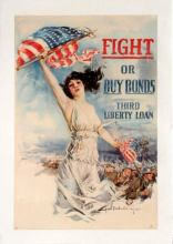 3 LibertyBond USA AntikBar VintagePoster Auction