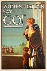 5 WomenOfBritainSayGo WWI AntikBar VintagePoster Auction