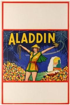 6 Aladdin PantomimeTheatre AntikBar VintagePoster Auction
