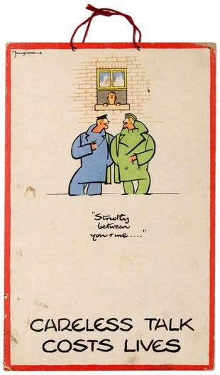 7 WWII Fougasse CarelessTalk AntikBar VintagePoster Auction