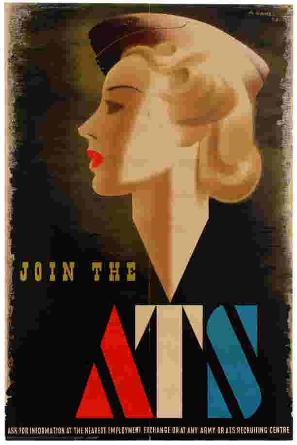 Join The ATS Abram Games WWII Blonde Bombshell AntikBar