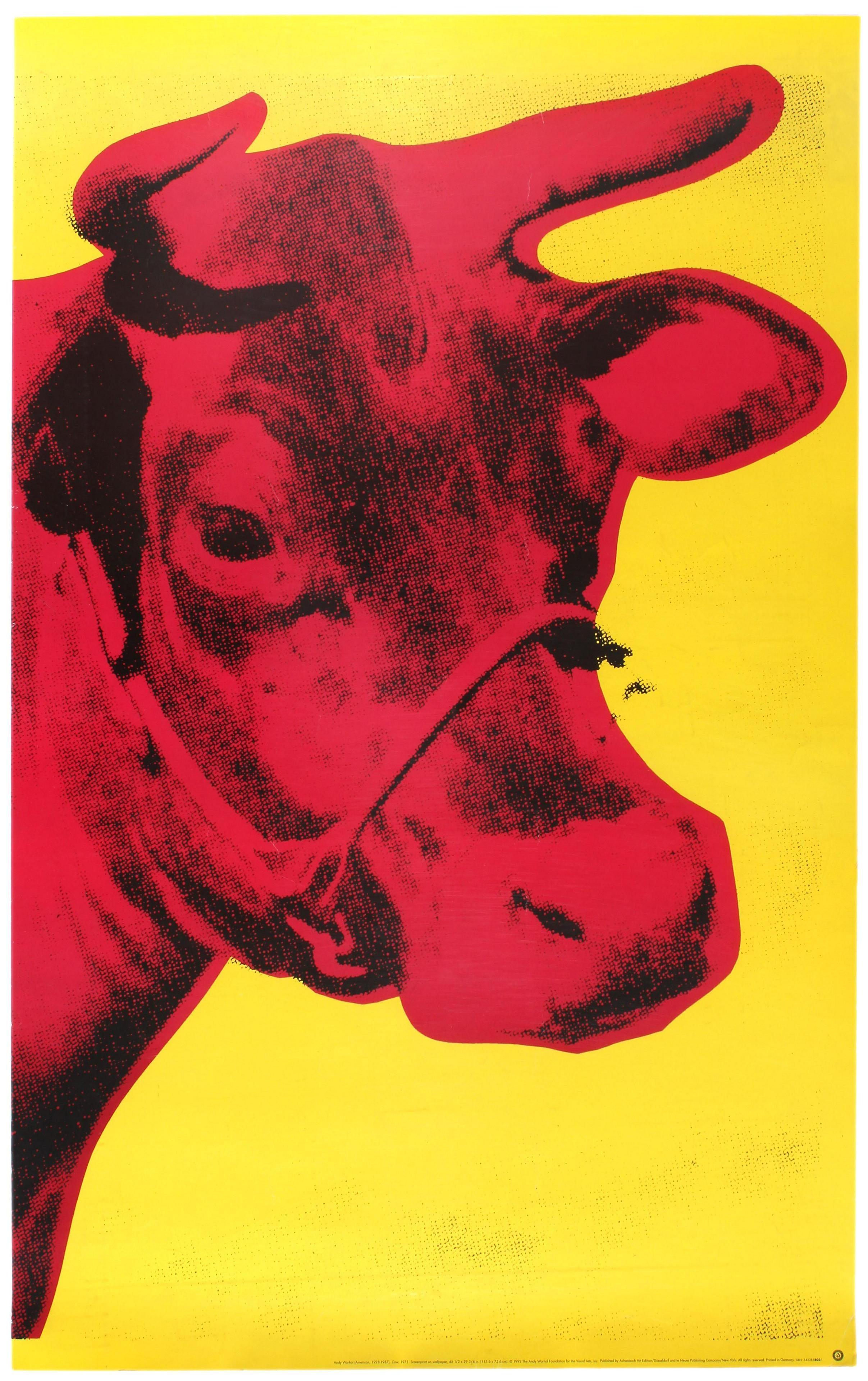 1 Andy Warhol Pop Art Cow