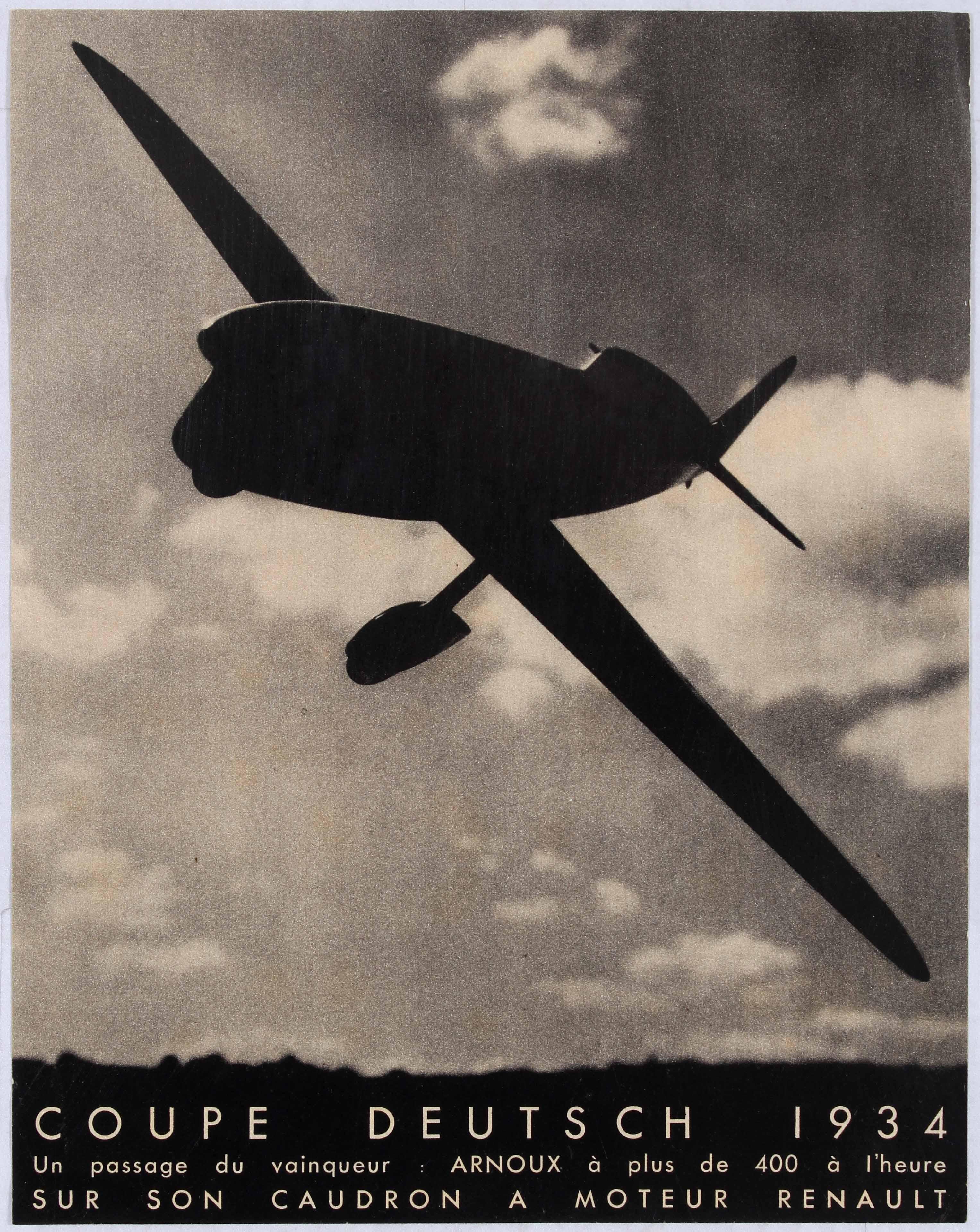 2 Coupe Deutsch 1934 Caudron Plane
