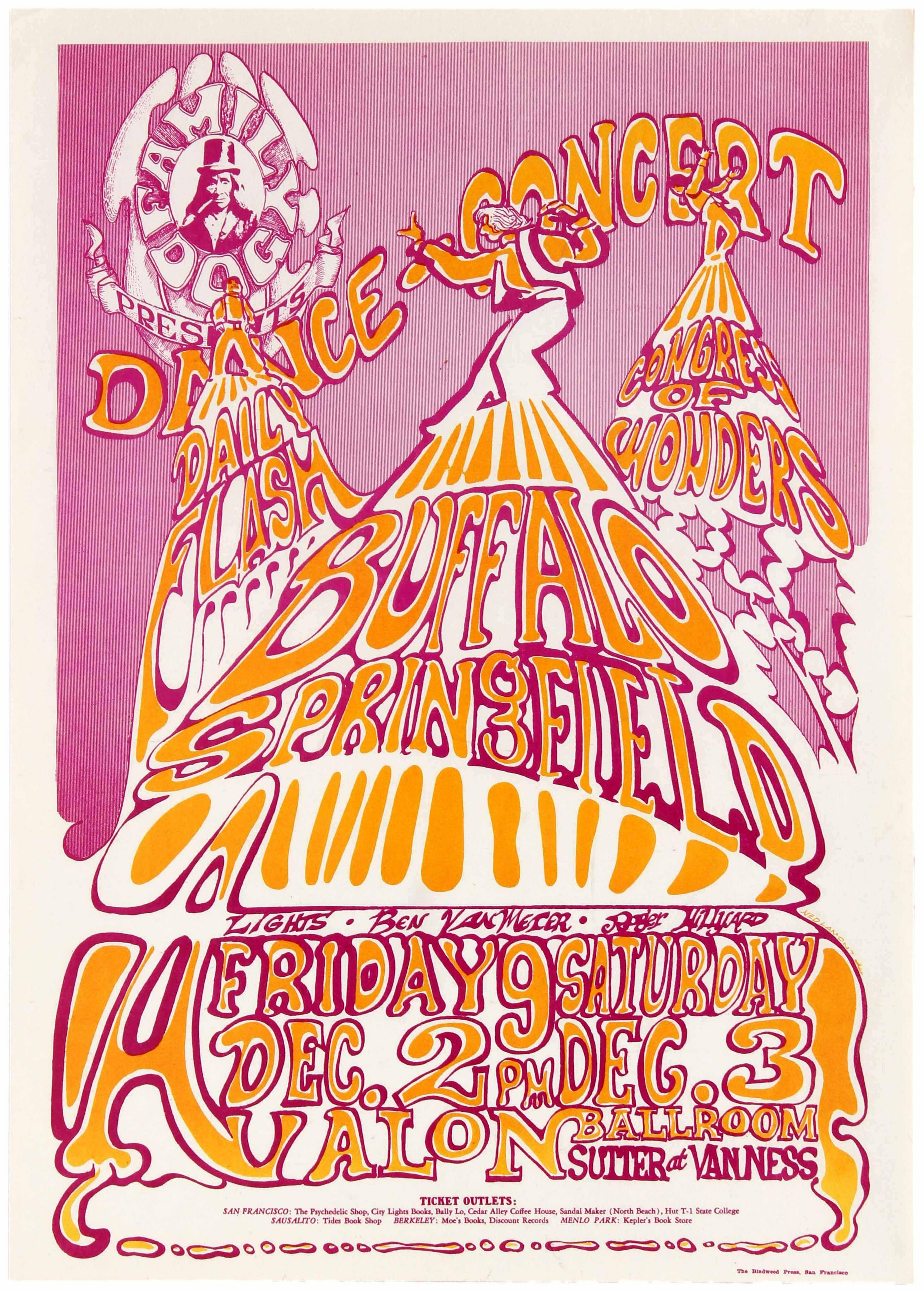 1 Psychedelic Rock Buffalo Springfield Avalon 1966 AntikBar Vintage Posters Auction 25April2020