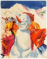10 Austria Ski Snowman AntikBar Vintage Posters Auction 25April2020