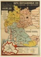 12 Occupation Map Post WWII AntikBar Vintage Posters Auction 25April2020