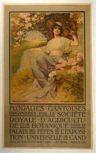 16 Ghent Flowers 1913 AntikBar Vintage Posters Auction 25April2020