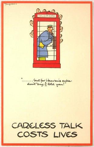 17 Fougasse Careless Talk WWII AntikBar Vintage Posters Auction 25April2020