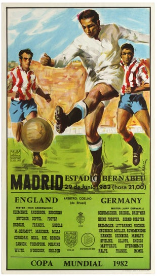 5 Football World Cup 1982 AntikBar Vintage Posters Auction 25April2020