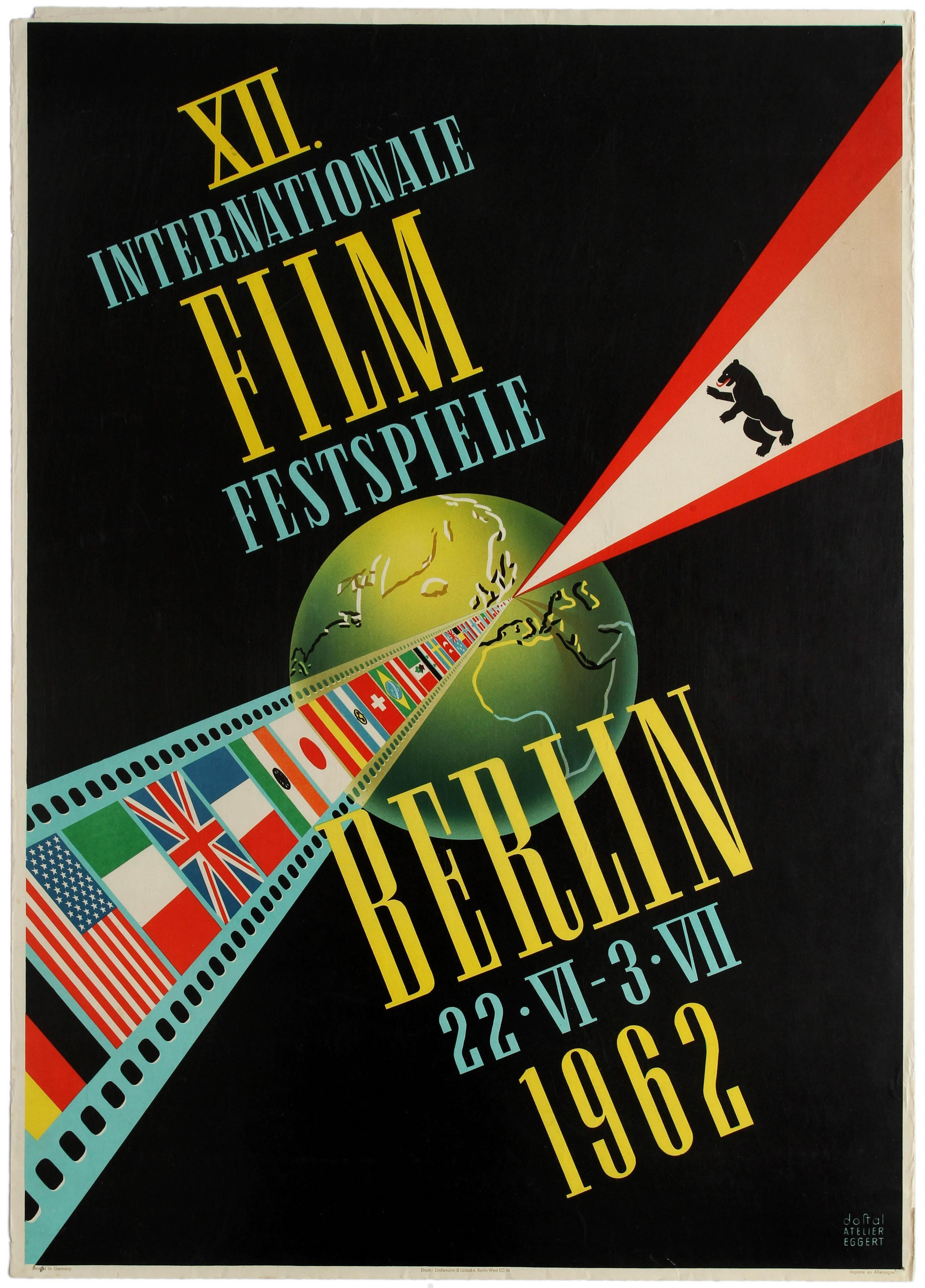 7 Berlin Film Festival 1962 AntikBar Vintage Posters Auction 25April2020