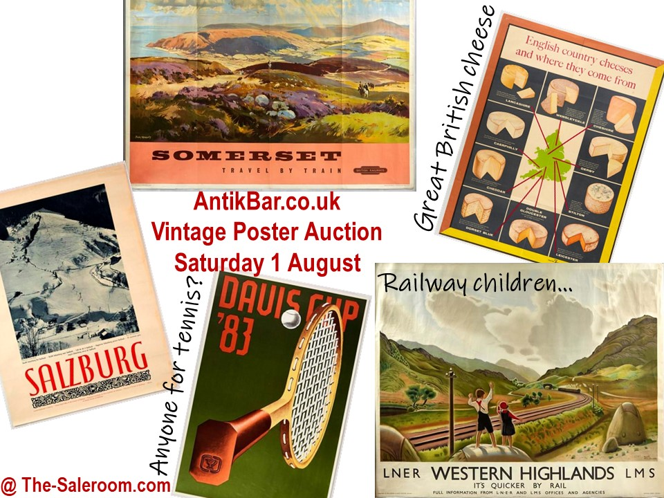 TheSaleroom AntikBar Poster Auction 1August2020 feature